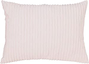 Beatrice Home Fashions Channel Chenille Pillow Sham, Standard, Blush