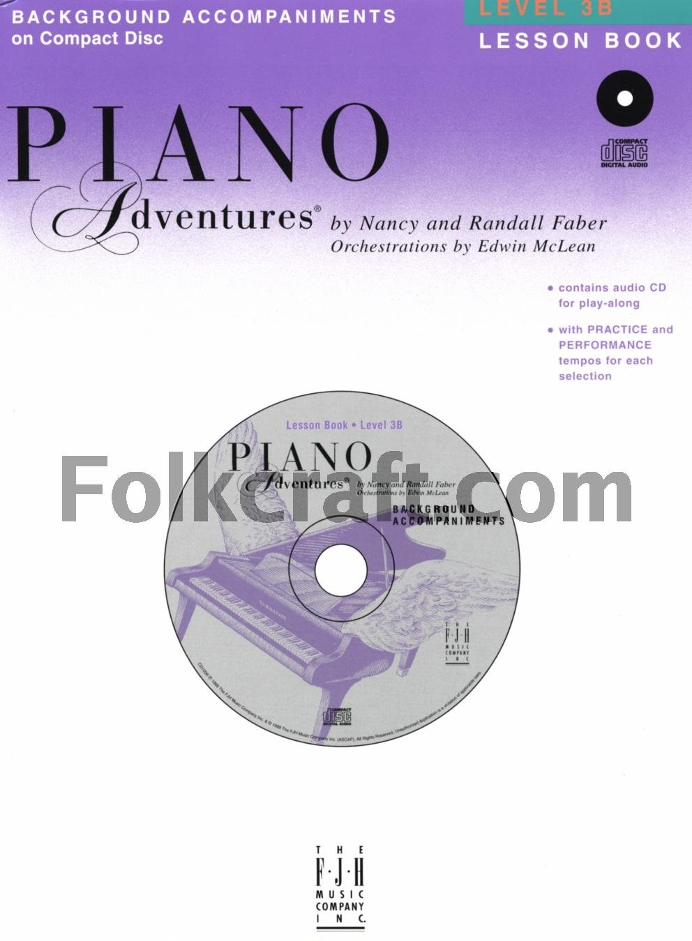 Piano Adventures - Level 3B Lessons Book CD