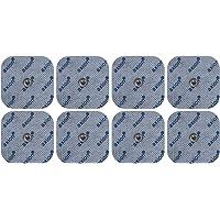 8 Electrodos de 4,5x4,5 cm - para su aparato electroestimulador TENS EMS | Compatible…