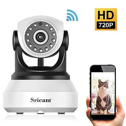 LESHP IP Cámara de Vigilancia 720P Seguridad WiFi Monitor de Bebé Mascota Inalámbrica con Visión Nocturna
