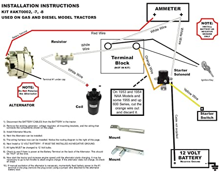 601 Ford Tractor Wiring Diagram For 12 Volt Conversion ...  Ford Naa Wiring Diagram V on