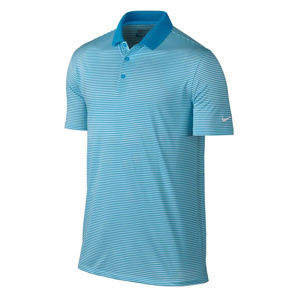 Nike Victory Mini Stripe Golf Polo 2017 Blue Fury/White Small