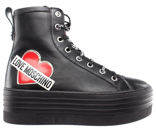 factory price 23931 d0c7c Love Moschino Scarpe Donna Sneakers Alte Sca Nod Gomma 60 ...