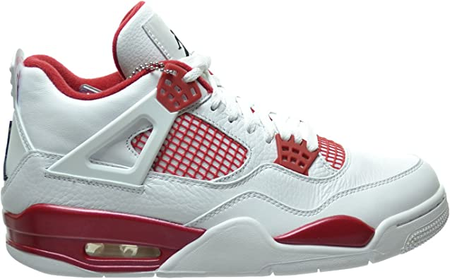 jordan 4 retro red and white cheap online