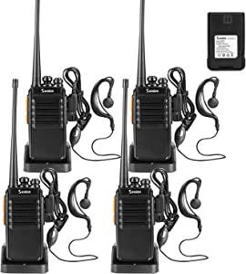 Seodon Walkie Talkies for Adults Long Range with One Extra Battery for Each Radio Rechargeable 4 Pack 2 Way Radio Up to 5 Miles Range in The Open Filed Two Way Radios Long Distance Walky Talky