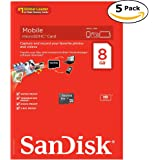 SanDisk 8GB Microsdhc Class 4 Memory Card (COMBO OF 5Pcs)