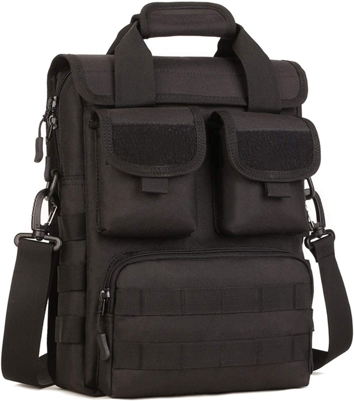 CamGo Tactical Briefcase Small Military 12 inch Laptop Messenger Bag Computer Shoulder Bag (Black)