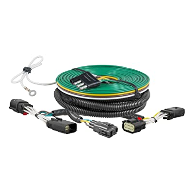 CURT 58964 Custom Towed-Vehicle RV Wiring Harness for Dinghy Towing, Select Jeep Wrangler JL: Automotive