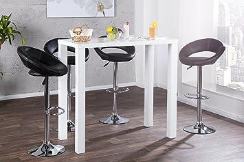 DuNord Design - Tavolo alto stile bar, 120 cm, colore: bianco ...