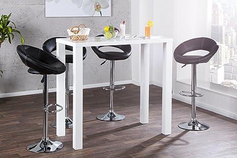 Dunord design tavolo alto stile bar cm colore bianco