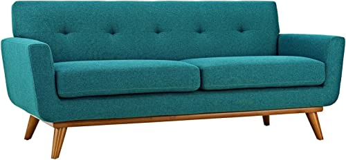 Modway Engage Mid-Century Modern Upholstered Fabric Loveseat