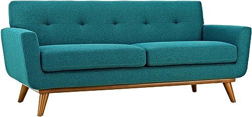 Editors' Choice: Modway Engage Mid-Century Modern Upholstered Fabric Loveseat