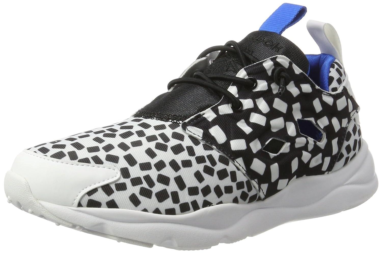 Reebok Furylite Contemporary, Zapatillas de Running para Mujer 41 EU|Blanco / Negro / Azul (White/Black/Blue Sport)
