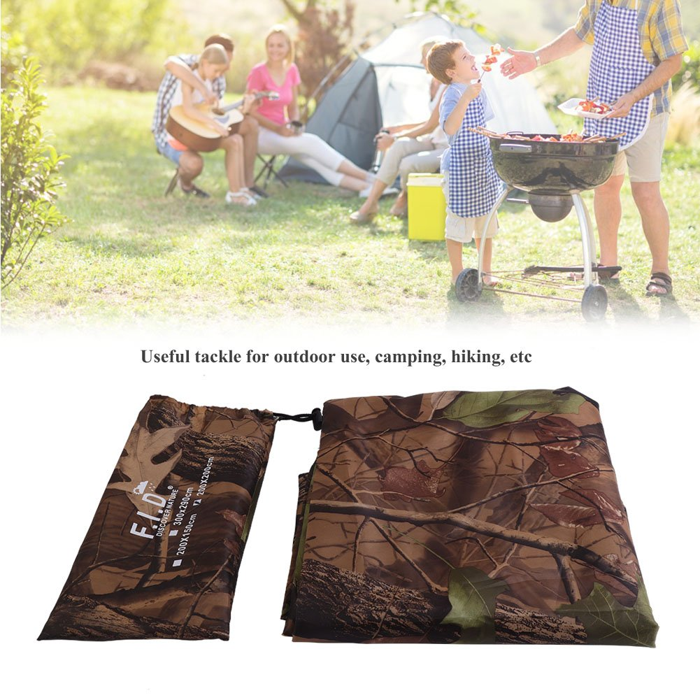 Tienda de campaña Tarp Shelter Cover Toldo Impermeable Army Camo Camping Tarpaulin Shelter Camuflaje Carpa Tarp Sheet Toldo Toldo Rain Cover Rainproof Mat Shelter with Carry Bag Tbest