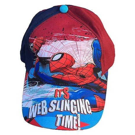 CAPPELLO Spiderman Uomo Ragno Marvel con Visiera Taglia Unica Regolabile -  MV15373 1 f23bcf059568