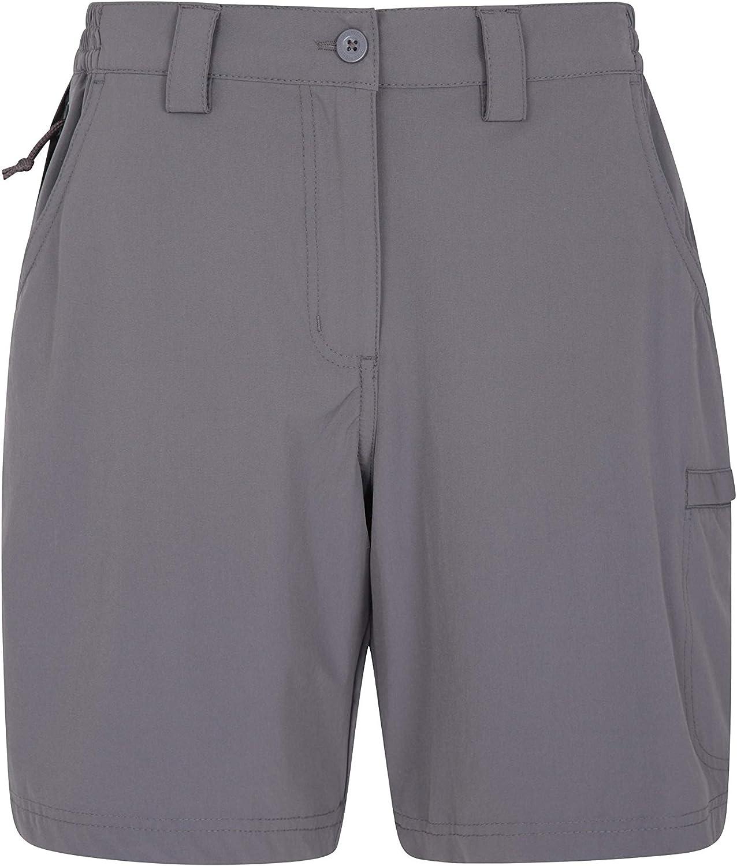 Mountain Warehouse Pantalón Corto elástico Trek para Mujer - Pantalón Corto Ligero para Mujer, Pantalones elásticos Resistentes, pantalón Corto de Verano fácil de Guardar