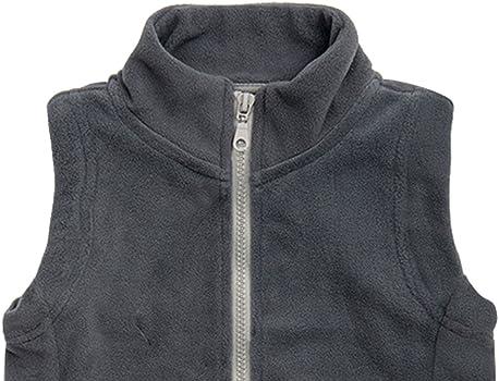 Aivtalk - Chaleco de Forro Polar para Niños Chaleco Infantil de Invierno Suave de Color Puro Estilo Moderno Fleece Vests for Boys - Gris - 8-9 Años: Amazon.es: Ropa y accesorios