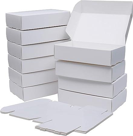 Cajas Cartón kraft Blancas (Pack de 50) - Cajas Regalo Cartón (19 ...