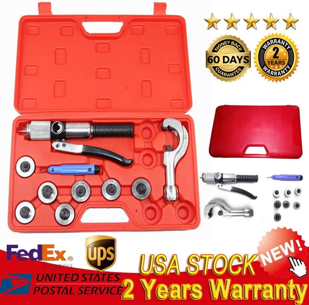 7 Lever Tubing Expanding Tool Swaging Kit HVAC Tools Hydraulic Tube Expander