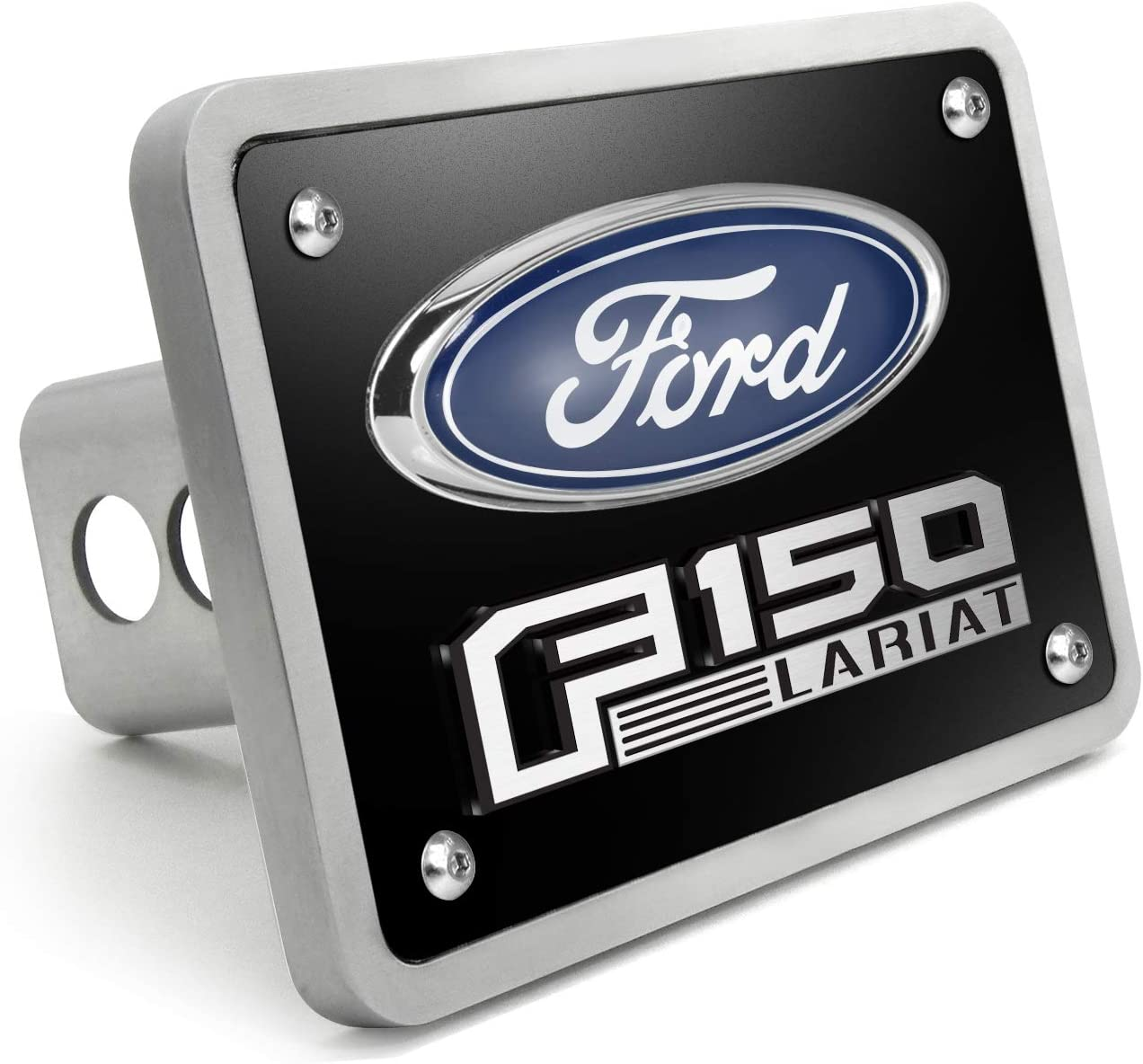iPick Image for Ford F150 Platinum 3D Logo Brushed 3//8 Thick Billet Aluminum 2 inch Tow Hitch Cover