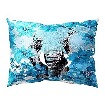 Amazon.com: Meiyuan - Funda de cojín con diseño de elefante ...