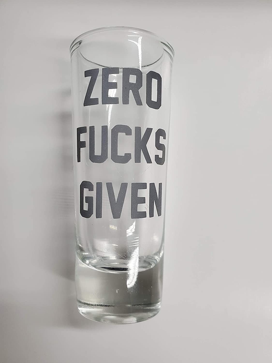 Zero Fucks Given Stiletto Shot Glass REFLECTIVE Coffee Mug Decal Vinyl Sticker Whiskey Tequila Rum Shots Drinking and party enthusiasts Custom