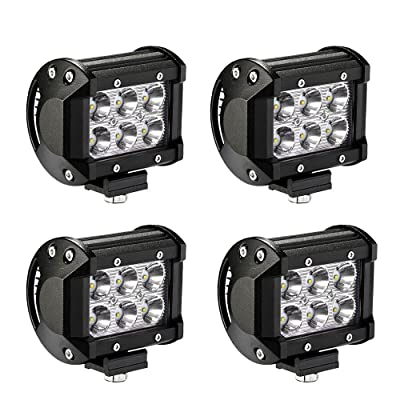 LED Light Bar YITAMOTOR 4PCS 18W 4Inch Led Spot Work Light Led Light Pod Off Road Lights Led Fog Light Truck Lights Driving Lights Waterproof 4WD SUV ATV Truck Boat 12V 24V, 2 Years Warranty: Automotive