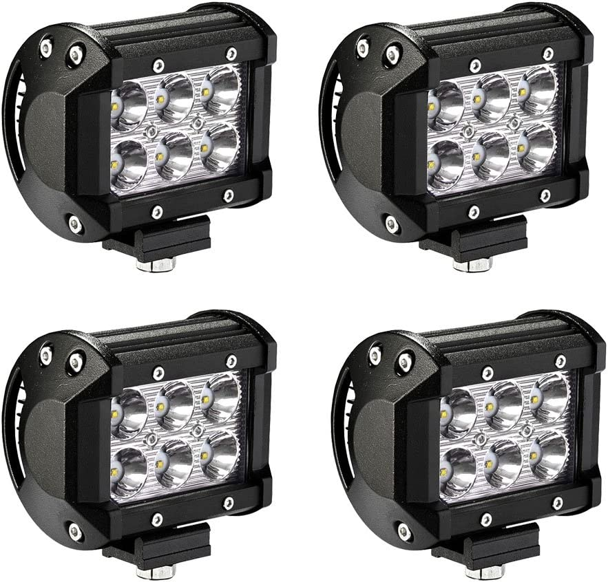 2pc 4Inch Spot Cube Pods Driving Lamp Led Work Light Truck Trailer Tractor