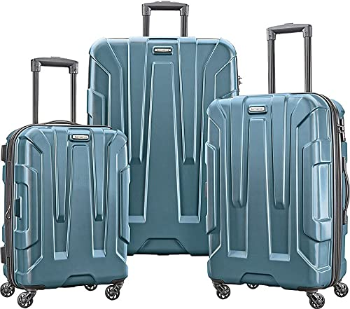 Samsonite 102691-2824 Centric 3pc Nested Hardside 20 24 28 Luggage Set – Teal Bundle w Luggage Accessory Kit 10 Item
