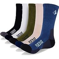 YUEDGE Men's Wicking Cushion Anti Blister Multi Performance Dress Casual Socks