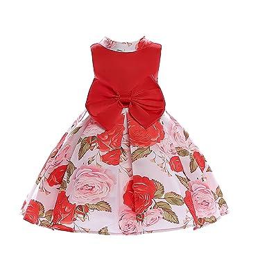 Amazon Jianlanptt Baby Girls Flower Print Big Bow Dress Kids