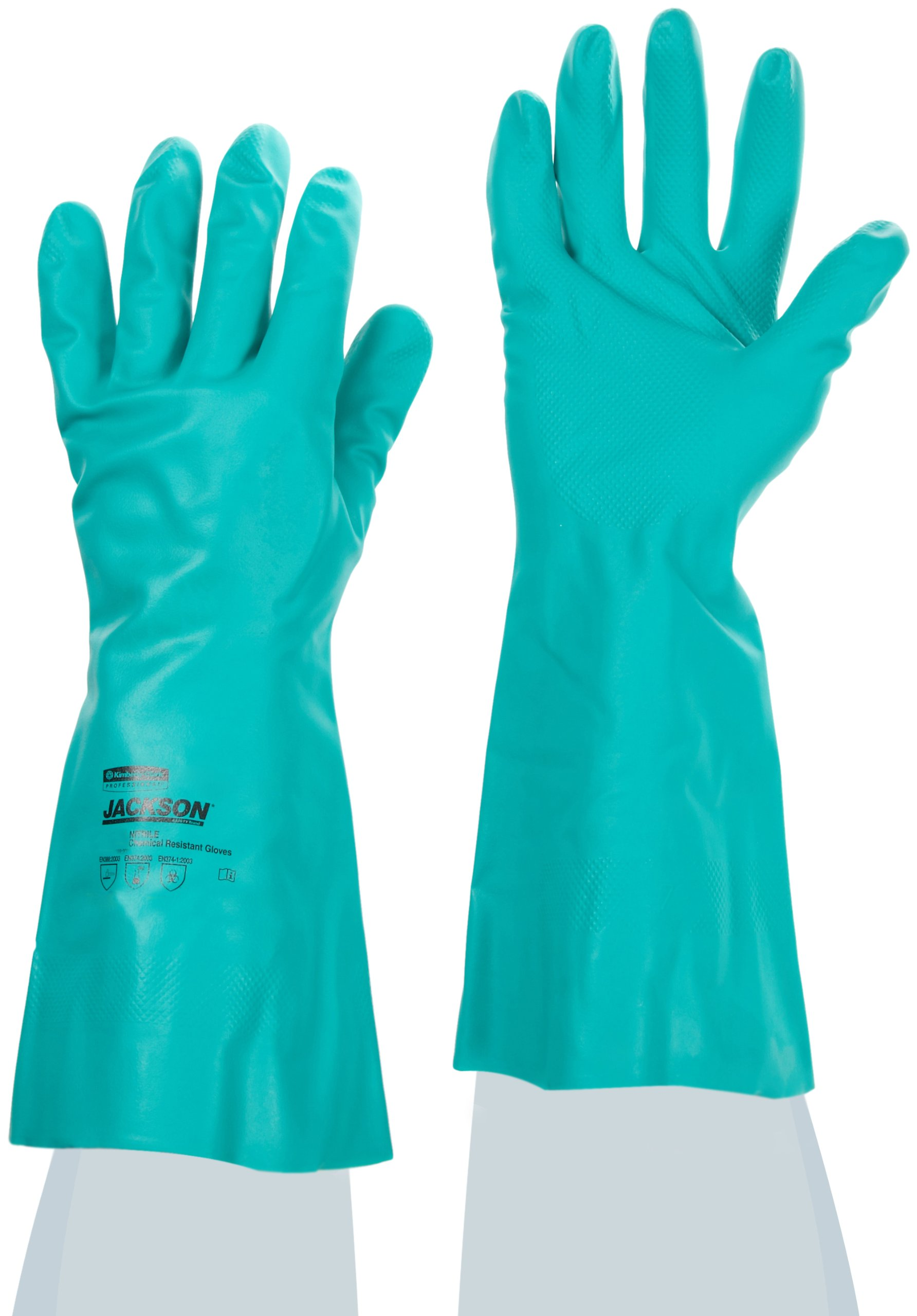 Jackson Safety G80 Nitrile Glove, Chemical Resistant, 15 mil Thickness, 13'' Length, Medium, Green (Case of 60 Pairs)