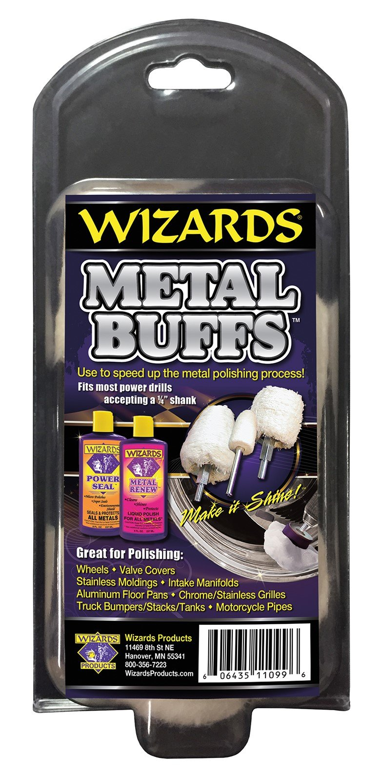 Wizards Metal Polish (Metal Buffs Kit (4 ea))