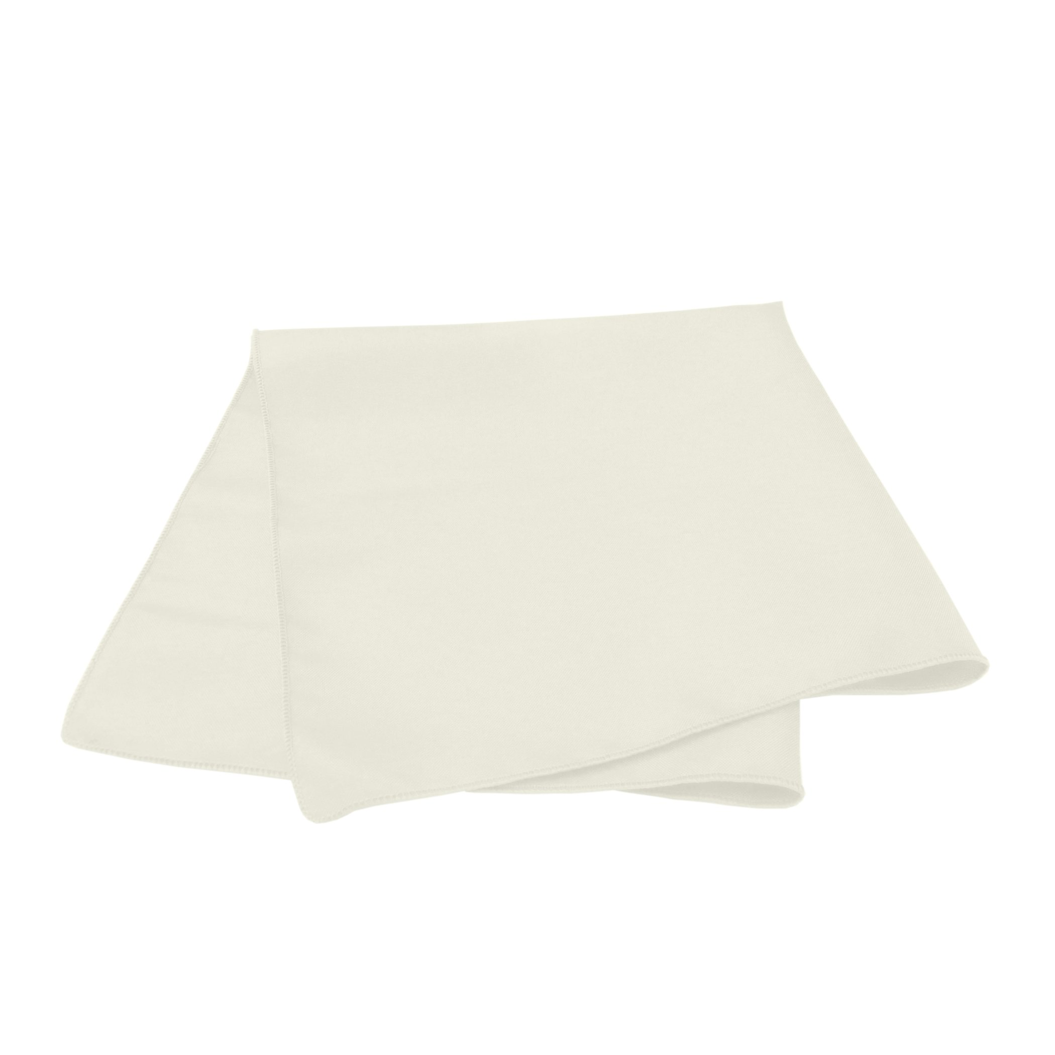 Ultimate Textile -55 Dozen- 17 x 17-Inch Polyester Cloth Napkins, Ivory Cream by Ultimate Textile (Image #2)