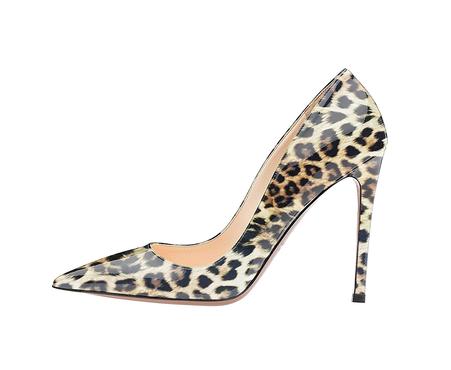 SexyPrey Women's Pointy Toe Stiletto Shoes Formal Office Evening Pumps B074M4BRBR 11.5 B(M) US|Leopard