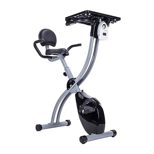 41618c1225c Pinty Adjustable Desk Exercise Bike Workstation with Tablet Holder and  Standing Desk