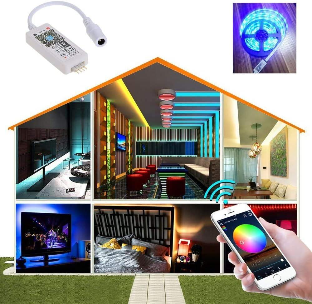 WIFI Remote RGB RGBW DEL Strip Contrôleur Magic Home pour Android Echo Alexa IOS
