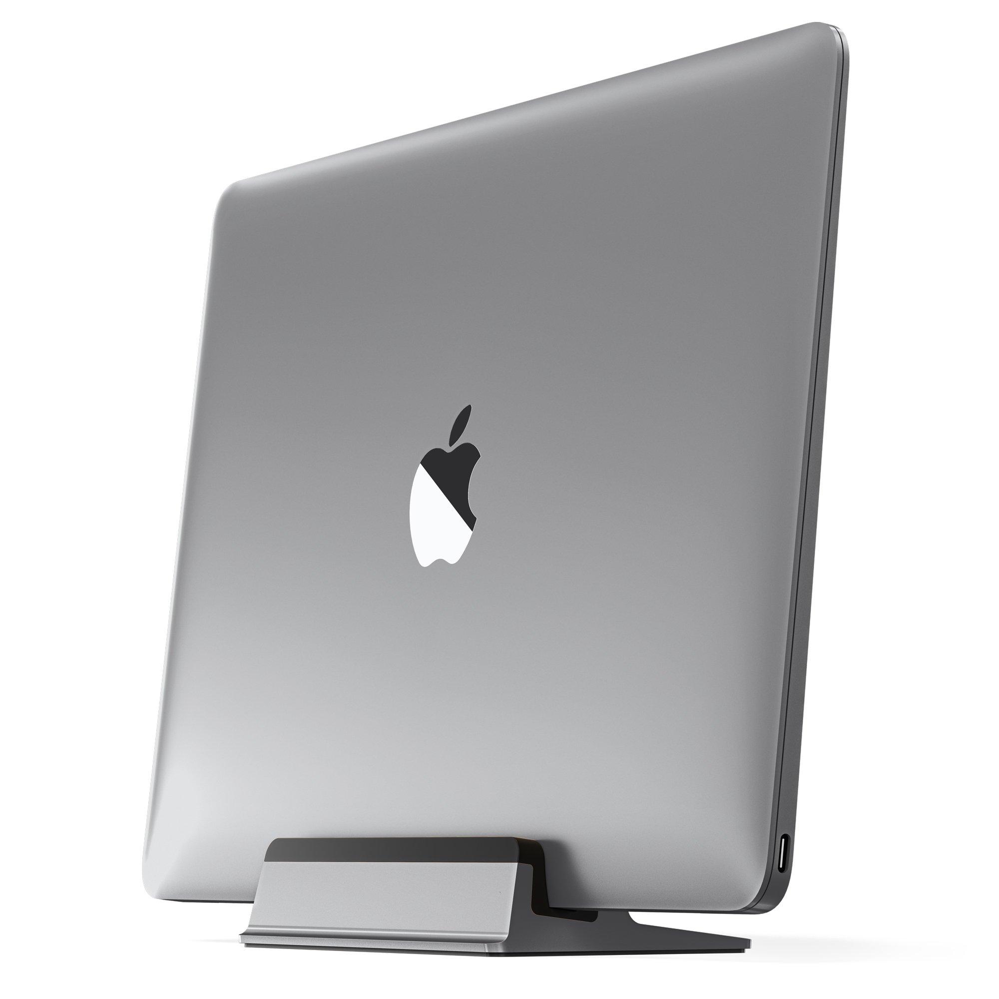 UPPERCASE KRADL Aluminum Vertical Stand for MacBook 12'', Space Gray/Black