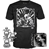 Funko Pop! 3 Pack & Tee: Disney - Mickey's 90th T-Shirt & Silver Steamboat Willie, Conductor, & Apprentice, Size Medium…
