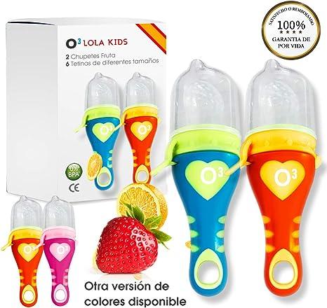 O³ Chupete Fruta – 2 Unidades con 6 Tetinas De Diferentes Tamaños ...