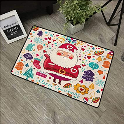 Amazon Com Anzhutwelve Christmas Kitchen Mat Jolly Santa