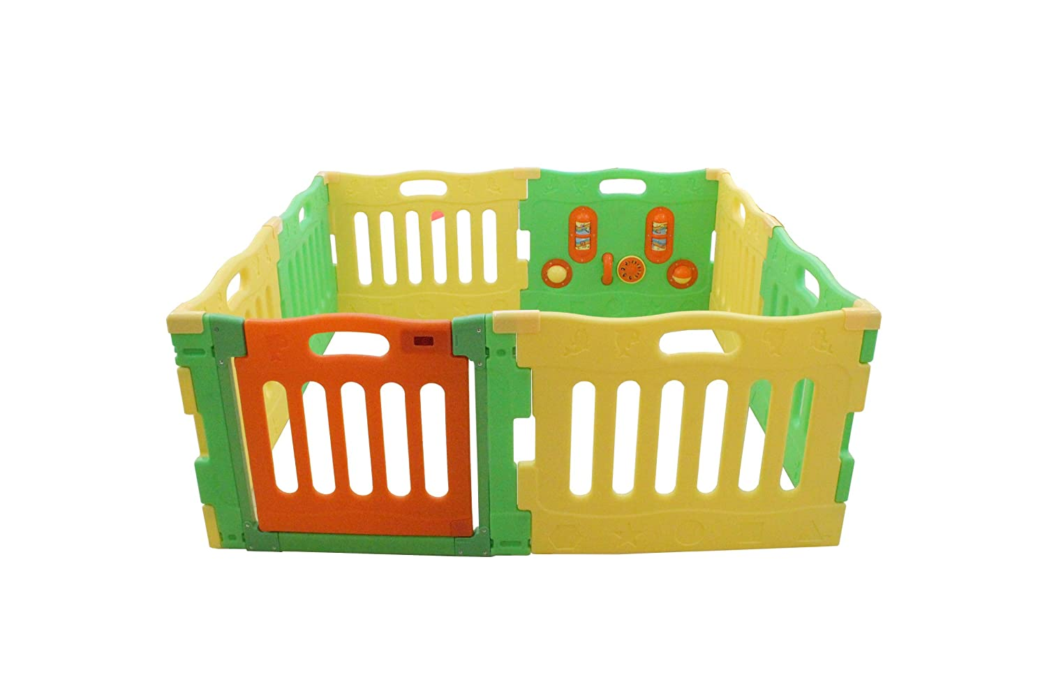 Baby Diego PlaySpot Playard and Activity Center, Yellow with Green/Orange PY2014