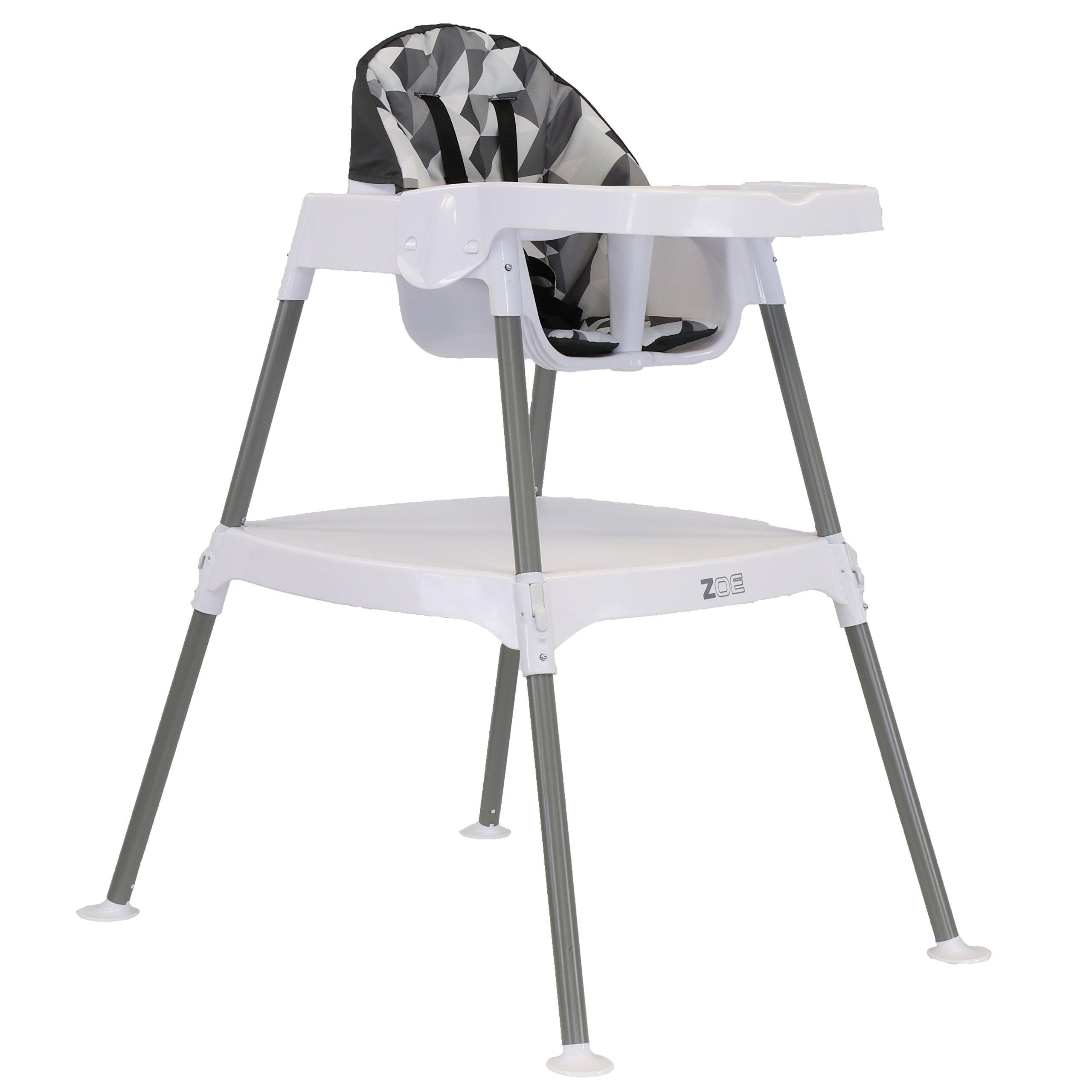 ZOE High Chair (4-in-1 High Chair, Grey Blocks)