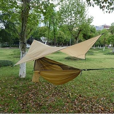Tente De Hamac Avec Moustiquaire Et Rainfly Rain Cover Abri Étanche ...