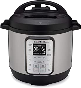 Instant Pot Duo Plus 6 Quart 9-in-1 Electric Pressure Cooker, Slow Cooker, Rice Cooker, Steamer, Saute, Yogurt Maker, Warmer & Sterilizer, 15 One-Touch Programs