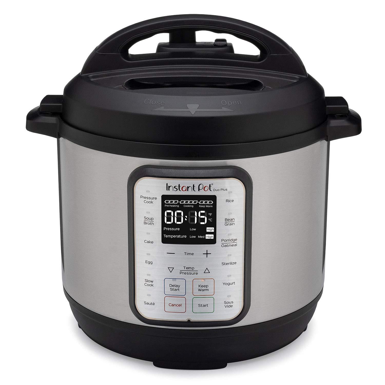 Instant Pot Duo Plus 8 Quart 9-in-1 Electric Pressure Cooker, Slow Cooker, Rice Cooker, Steamer, Saute, Yogurt Maker & Warmer, Sterilizer, 15 One-Touch Programs