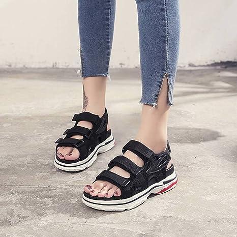 00b059ea Sandalias Zapatos Zapatos de Plataforma con Suelas Gruesas Retro Salvajes  Zapatos de Tacón Alto Zapatos de ...