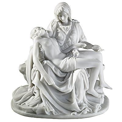 Design Toscano The Pieta (1499) Bonded Marble Medium Statue: Home & Kitchen