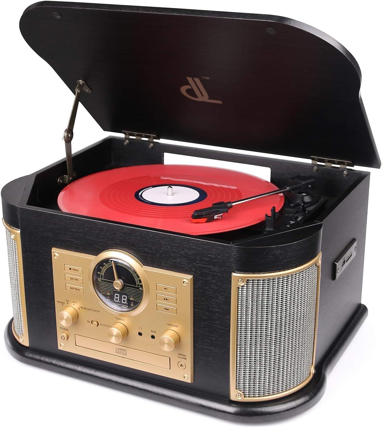 Plattenspieler Dl 7 In 1 Mit Bluetooth 2 9w Hohe Elektronik