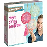 CRAFTIVITY Super String Lanterns Kit - Makes 3 String Art Lanterns